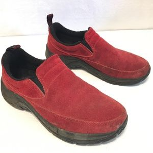 LL Bean Size 6 Suede Leather Slip On Boat Shoes